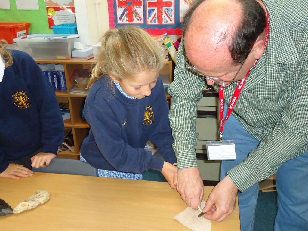 Stone Age Workshop Year 4 021 – Cumnor C of E Primary School